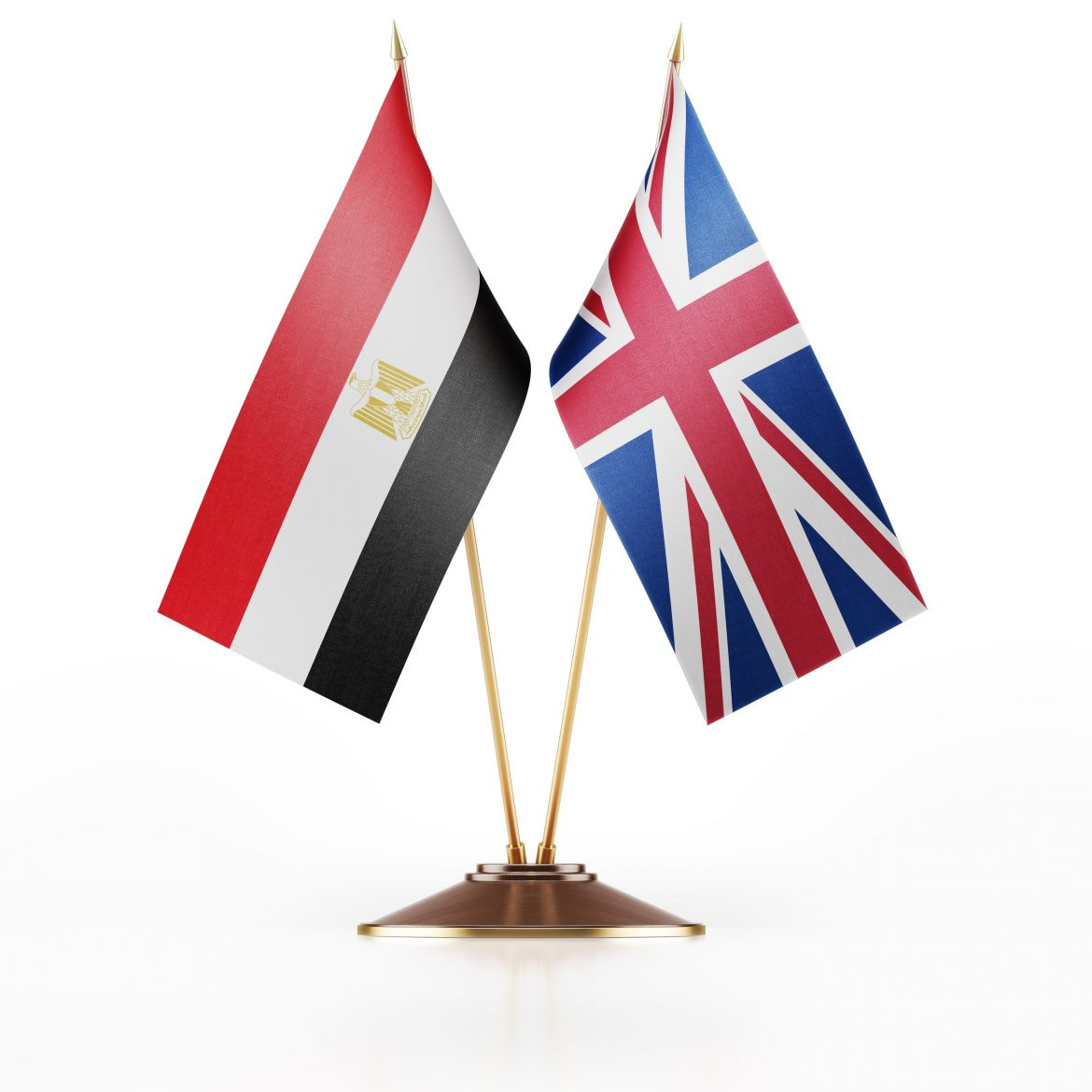 uk and egyptian flags