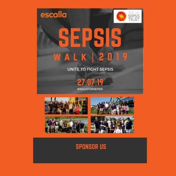 Sepsis Walk 2019 sponsor poster