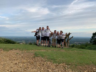 walk for sepsis 2019 group on hill