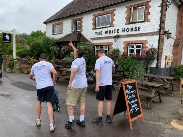 walk for sepsis 2019 outside white horse pub