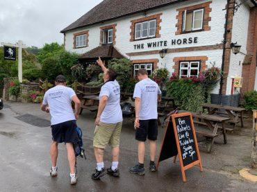 walk for sepsis 2019 outside white horse pub