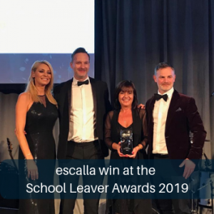 Link to school leaver awards win
