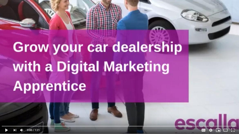 digital marketing apprentices for car dealers video