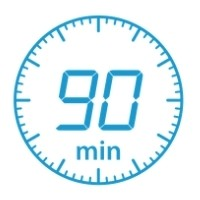 90 minute countdown clock