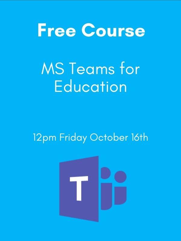 education teams webinar advert