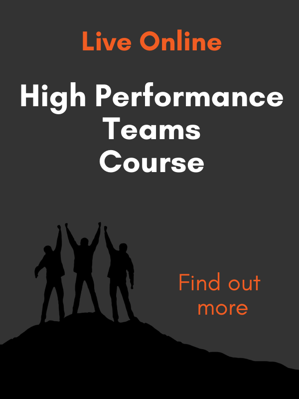 high performance teams course advert
