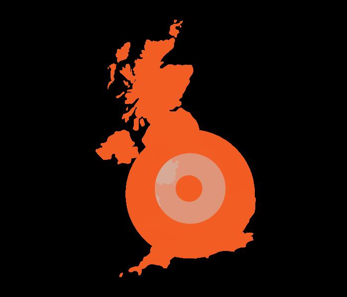 UK Map apprenticeships orange
