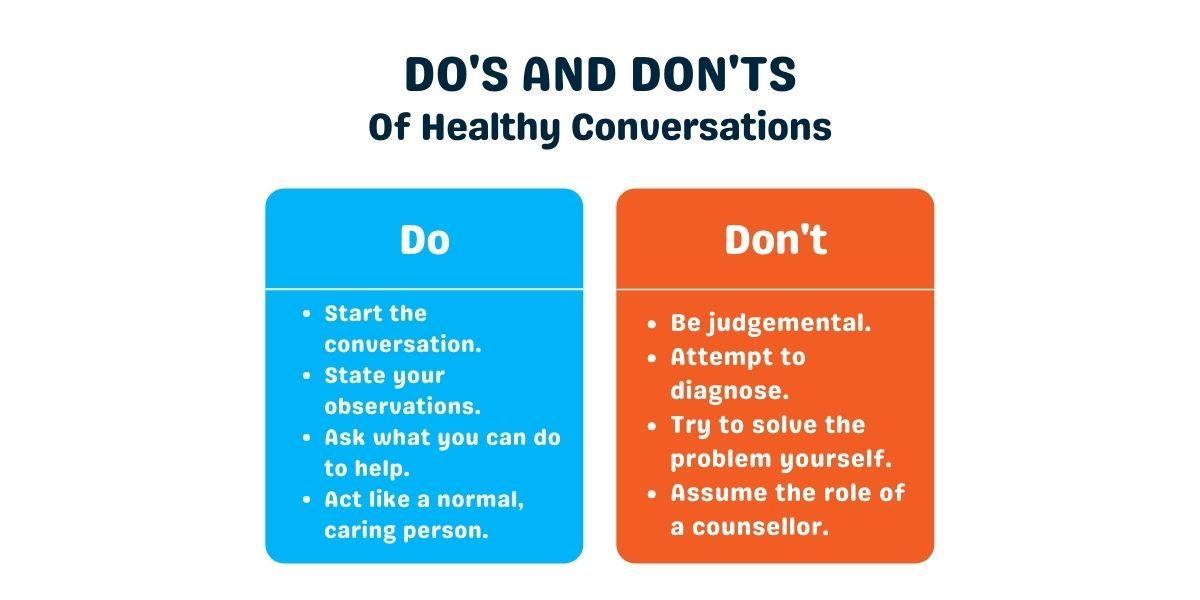 dos and don'ts healthy mental health conversations